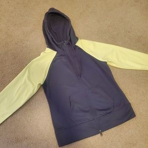 Danskin Now gray/yellow color block hoodie